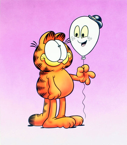 Garfield Airbrushed Artwork - Balloon Ghost