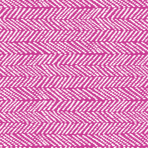 Terrestrial Organic Cotton by Sarah Watson - Herringbone in Fuchsia