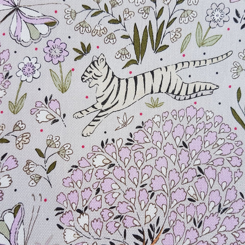 Yuwa Oxford - Bengal Tiger in Lilac and Grey
