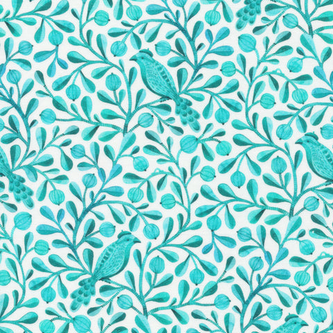 Birds and Branches Organic Cotton by Kirsten Sevig - Felipe