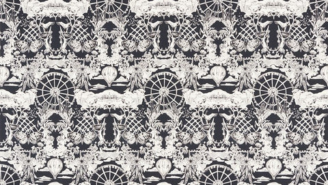 Black & White 2 by Jennifer Sampou - Modern Toile - Charcoal
