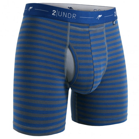 2UNDR Day Shift Men's Underwear Navy/Grey Stripes