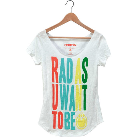 Nomis Be Rad Women's Tee - White / S - Koala Logic - 1