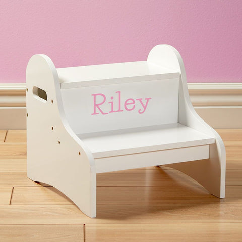Dibsies Step Stool with Storage - White - Girls