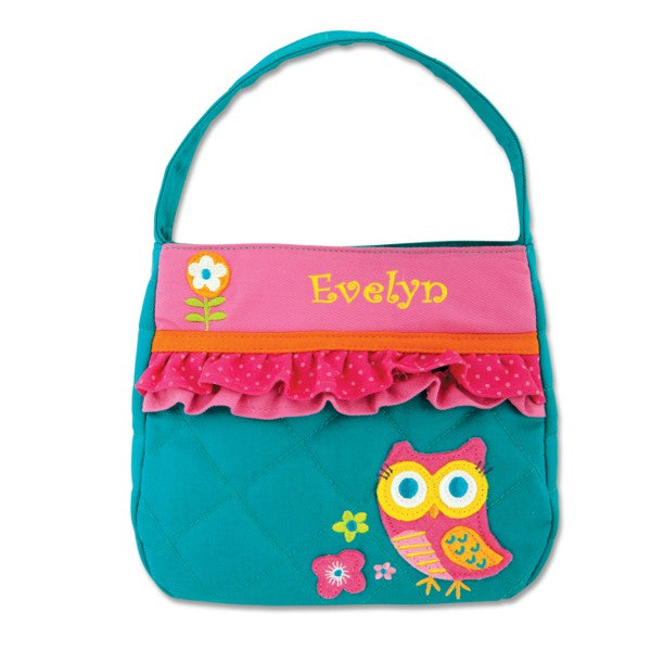 "Personalized Lil Lady Teal Owl 8"" Purse"