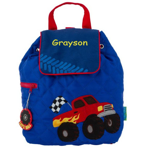 Personalized Monster Truck Embroidered Backpack