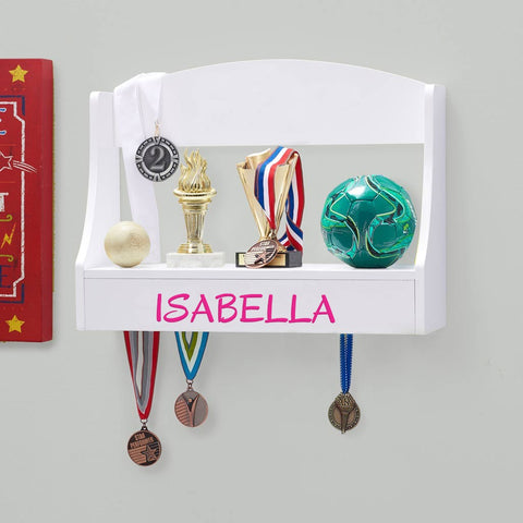Personalized Trophy Shelf and Medal Holder