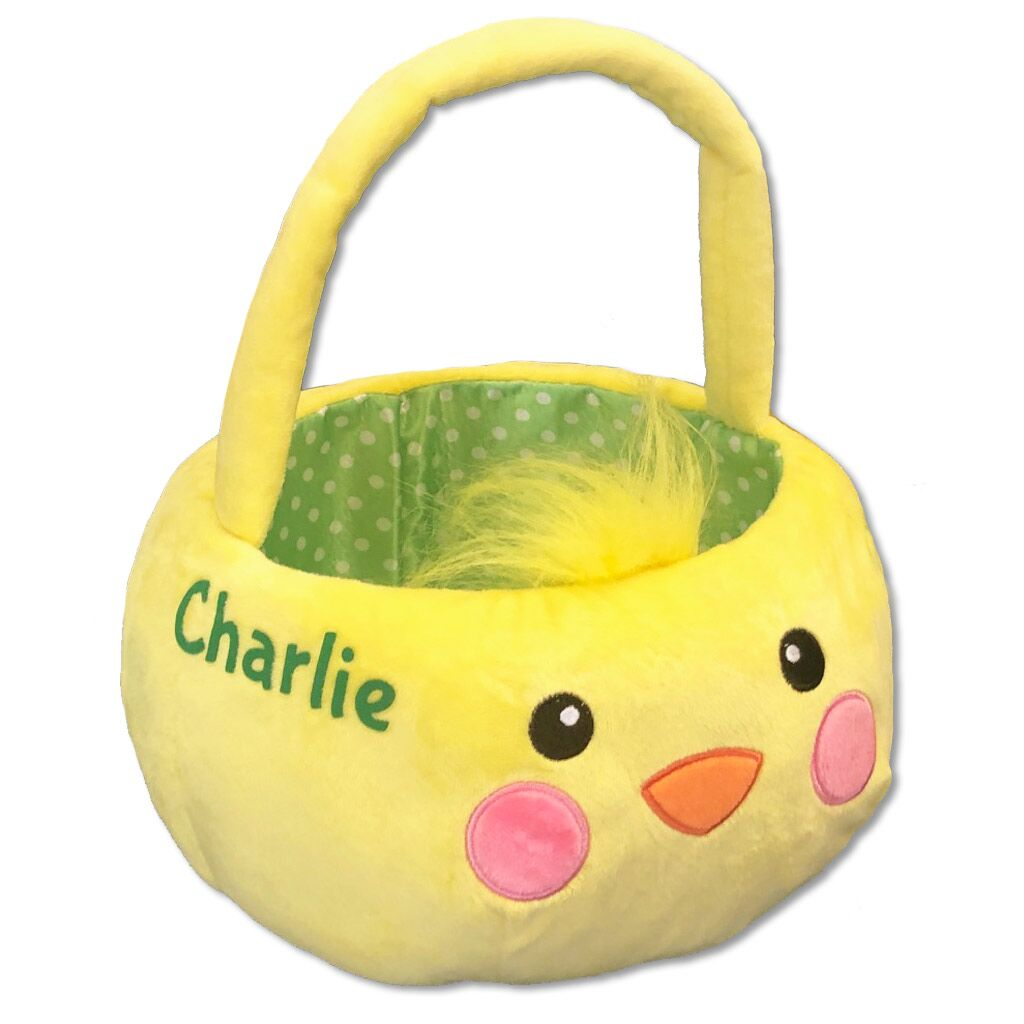 Personalized Chick Plush Easter Basket