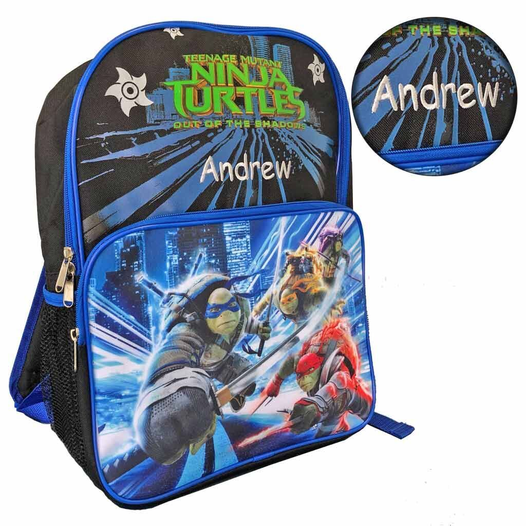 Personalized Ninja Turtles Character Backpack - 16 Inch