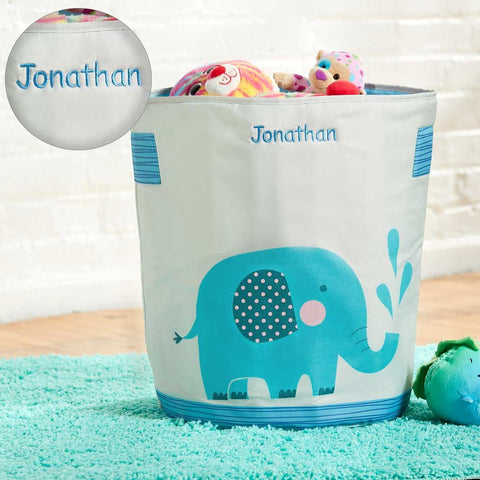 Personalized Dibsies Storage Tote - Elephant