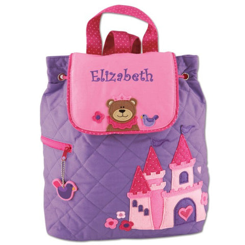 Personalized Princess Bear Embroidered Backpack