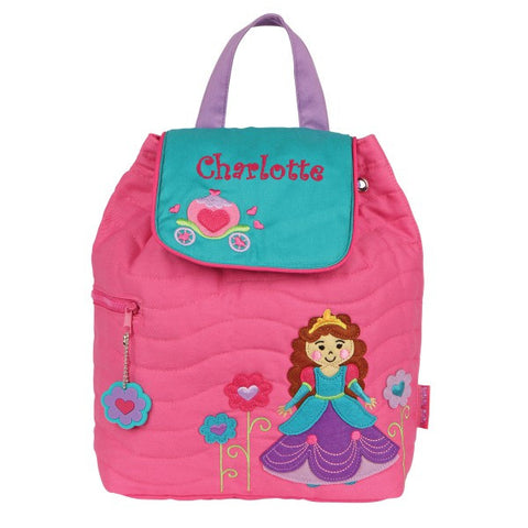 Personalized Pretty Princess Embroidered Backpack