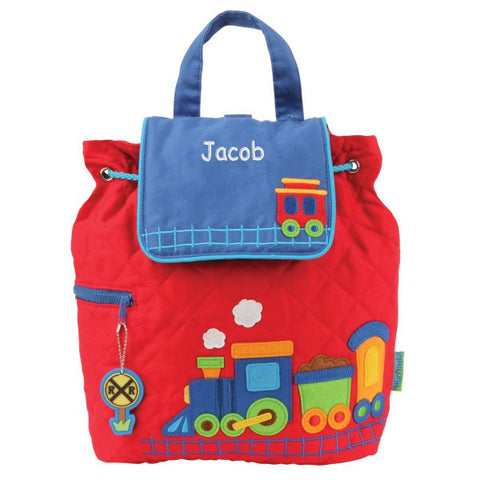 Personalized Choo-choo Train Embroidered Backpack
