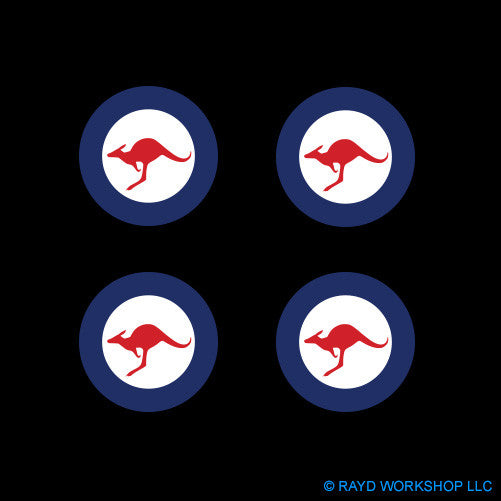 "1.5"" Royal Australian Air Force Roundel Self Adhesive Sticker"