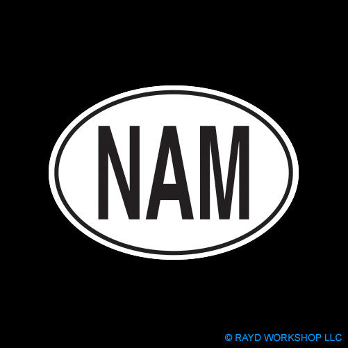 Namibian Oval Self Adhesive Sticker