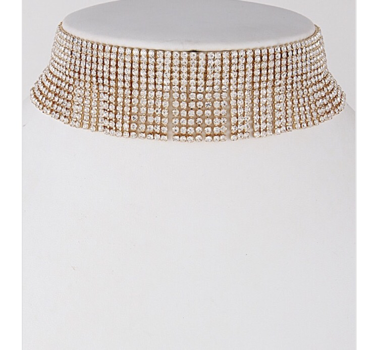 Weekend Rhinestone Choker