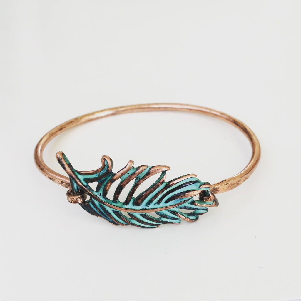 Vintage Feather Bangle