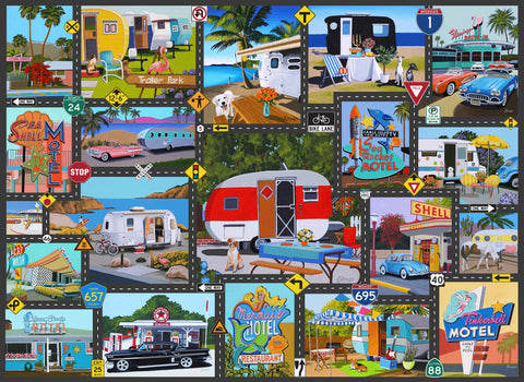 Road Trip USA 1000 Piece Jigsaw Puzzle - Because business IS personal Hennessy Puzzles