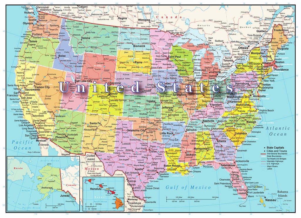 USA Map Puzzle 1000 Piece - Because business IS personal Hennessy Puzzles