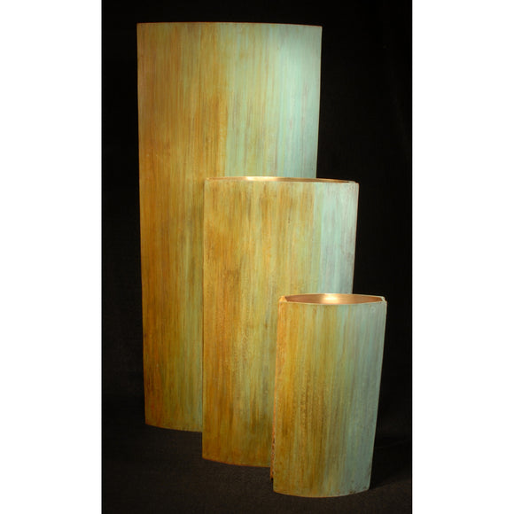 Slab Tri Color Vases