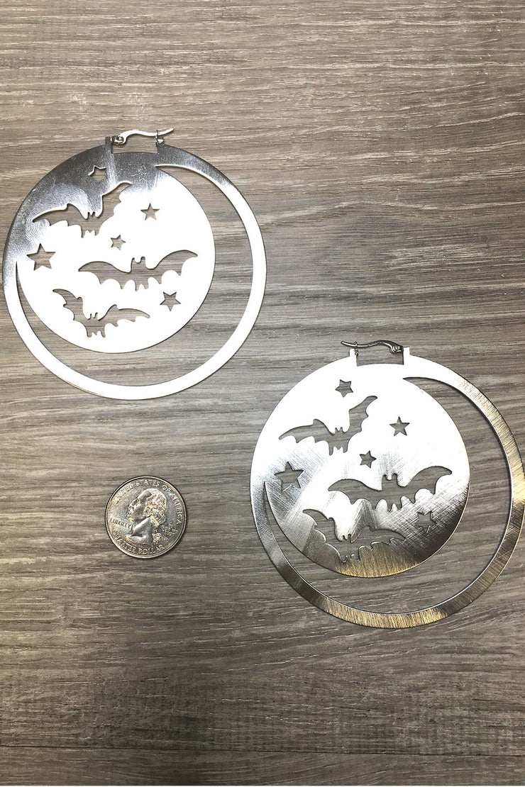 Super Moon & Bat Earrings