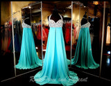 Blue Sweetheart Chiffon Prom Dress - Rsvp Prom and Pageant, Atlanta, GA