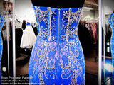 Royal Sweetheart Strapless Beaded Lace Prom Dress - Rsvp EC - Long Gown - Rsvp Prom and Pageant Atlanta, Georgia GA - 4 - BEST PROM STORE