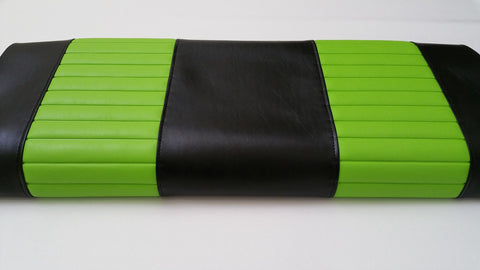 BLACK / LIME CLUB CAR DS 3pc FRONT COVERS