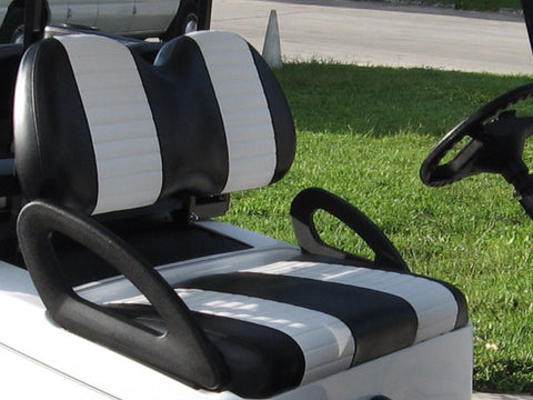 YAMAHA DRIVE 2007 -UP FRONT COVERS BLACK WITH WHITE PLEAT