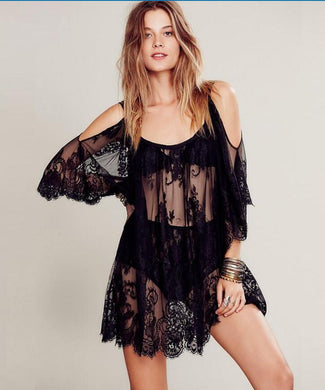 Sexy Lace Beach Cover Ups