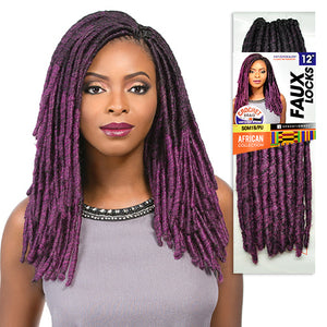 Faux Locs 12 Inch(Loop) Sensationnel African Collection Synthetic Braid 12Inch