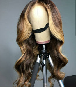 Ombre Bodywave Lacefront Wig 24inches