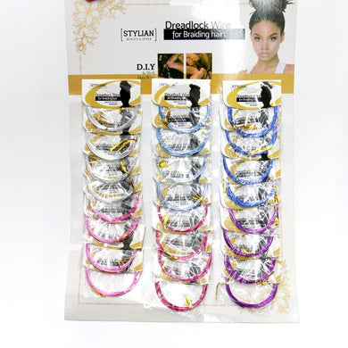 Assorted Colors Dreadlock Wire For Braiding Hair