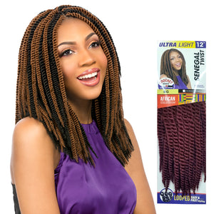 SENEGAL TWIST 12 Inch (LOOP) - Sensationnel African Collection Synthetic Braid.