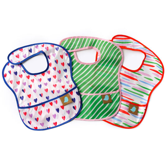 Jaq Jaq Bird | Feeding Bibs Set of 3 Water proof & Stain proof - Jaq Jaq Bird - 1