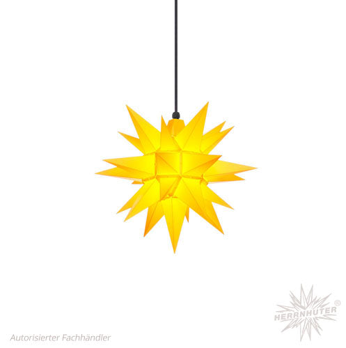 Herrnhut Yellow Plastic Star, 40 cm. Outdoor