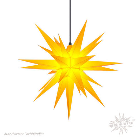 Herrnhut Yellow Plastic Star, 68 cm. Outdoor