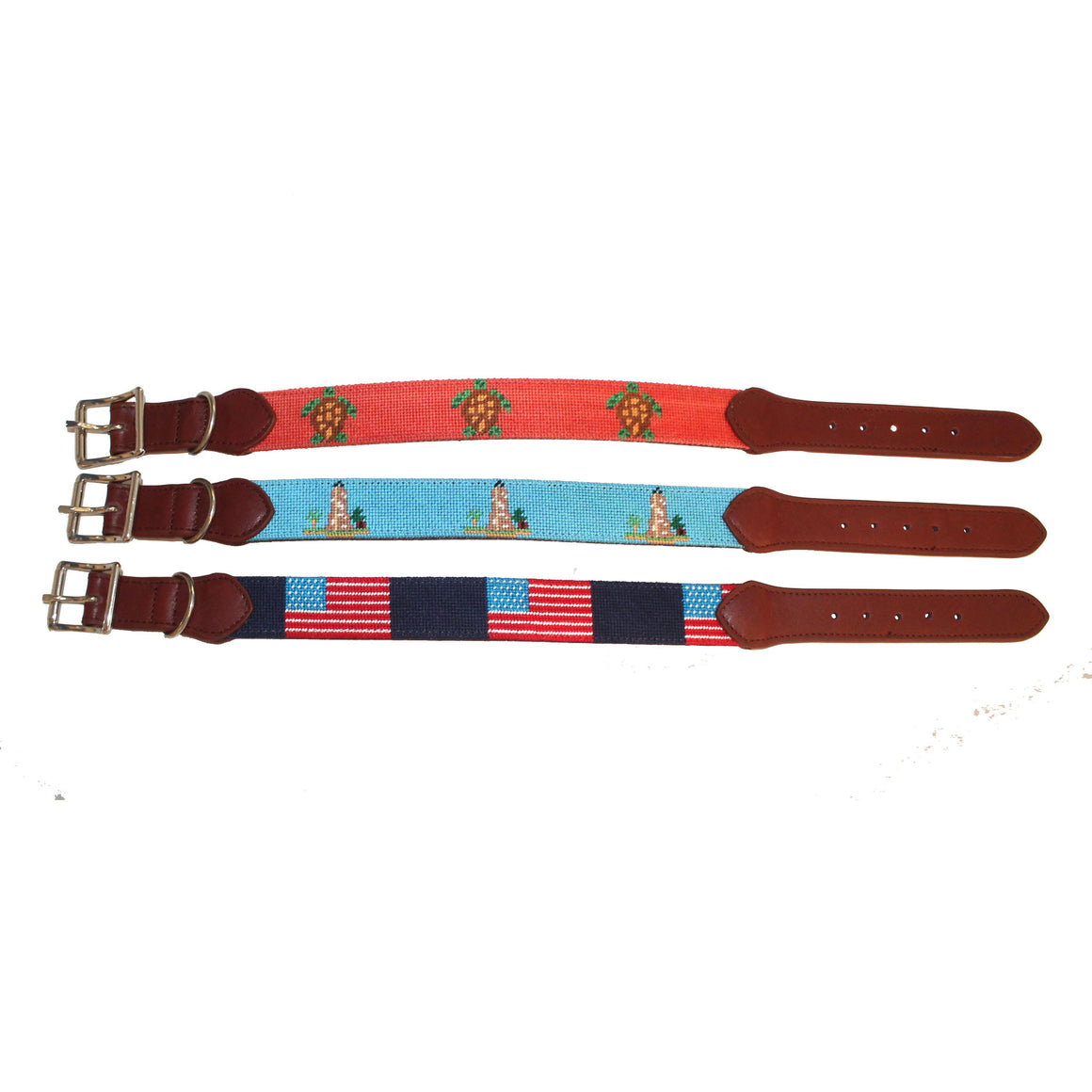 Needlepoint Dog Collar - USA Flag