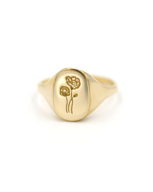 CLAUS:Poppy Signet Ring,ANOMIE