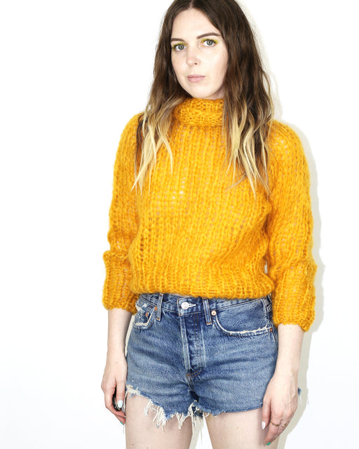 Maiami:Short Turtleneck Sweater,extra-small | SOLD OUT / mustard
