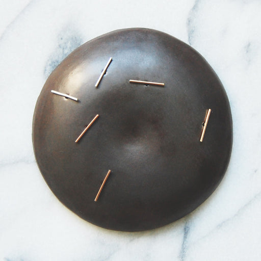 giantLION:long bar studs,14 rose gold / pair
