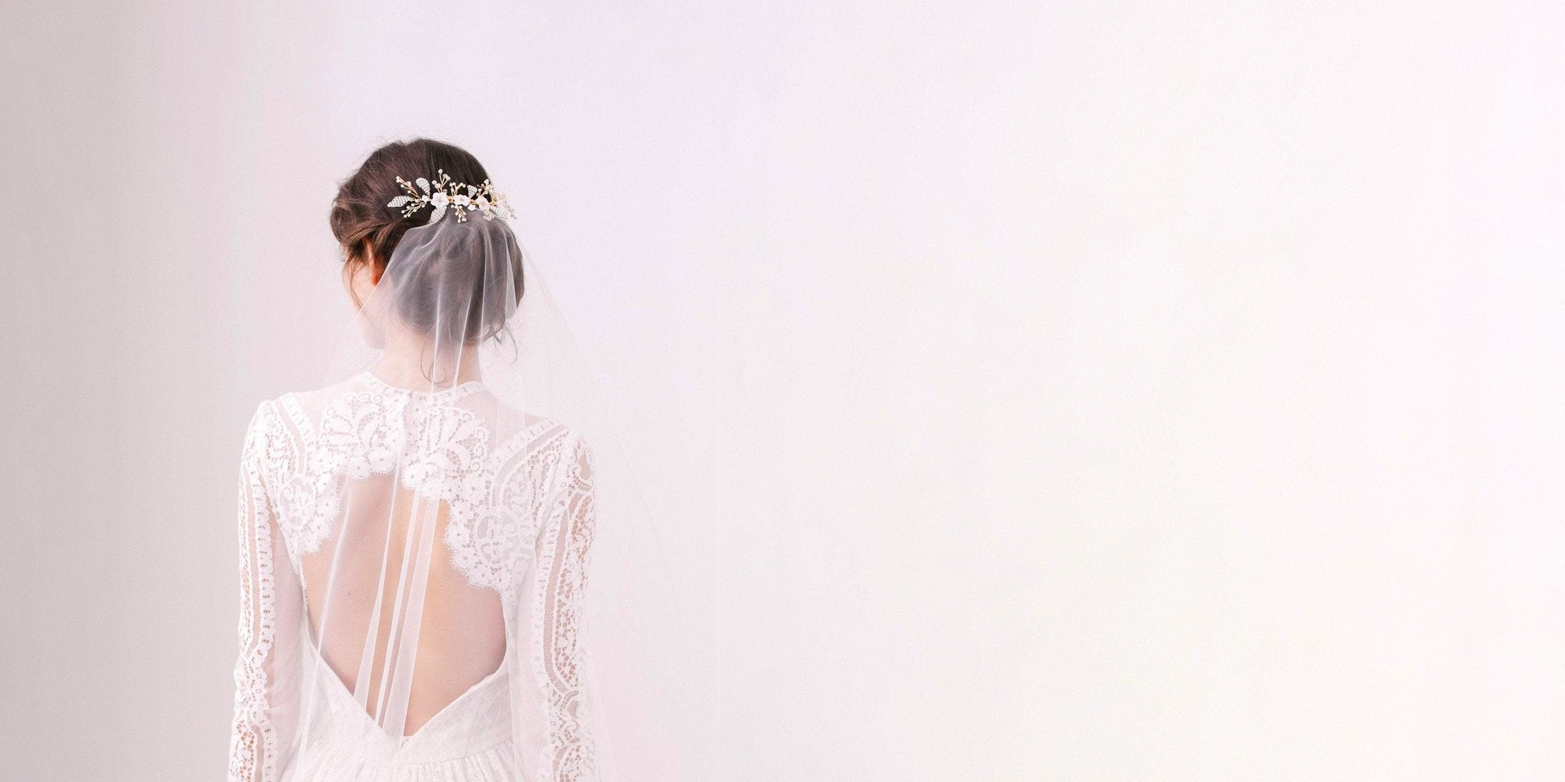 barely there wedding veil