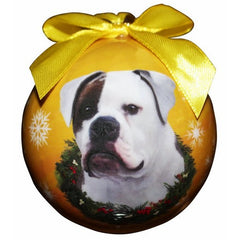American Bulldog Shatterproof Dog Breed Christmas Ornament