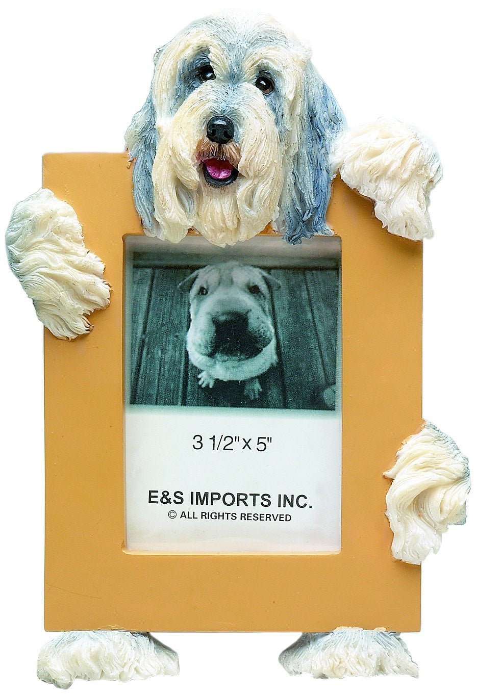 Bearded Collie Dog Picture Frame Holder