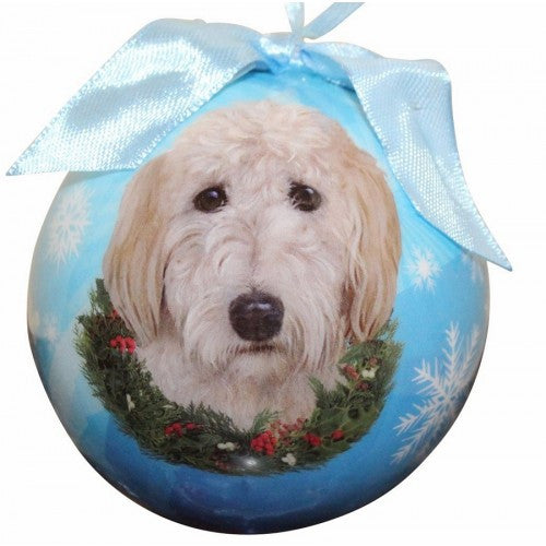 Goldendoodle Shatterproof Dog Christmas Ornament
