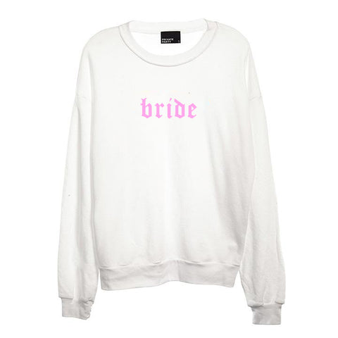 BRIDE // NEW FONT [UNISEX CREWNECK SWEATSHIRT]