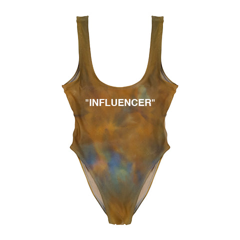 """INFLUENCER"" COPPER BLUE TIE DYE [ 1/1 CUSTOM X @BIGMOOD SWIMSUIT]"