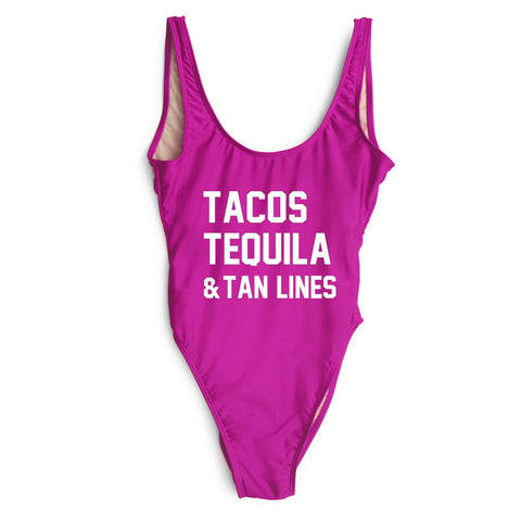 TACOS TEQUILA & TAN LINES [SWIMSUIT]