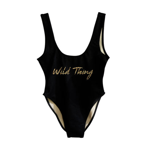 WILD THING W/ CHEETAH TEXT [SWIMSUIT]