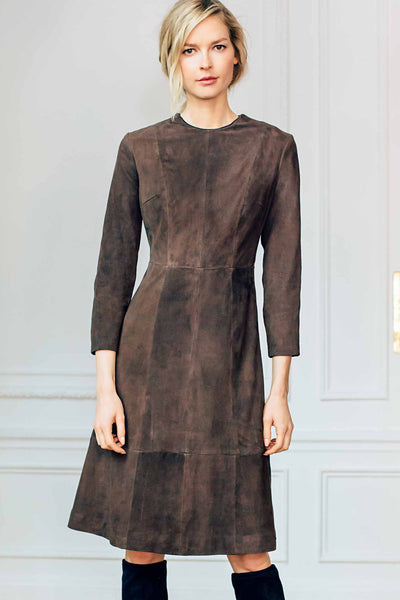 Jewel Neck A Line Dress